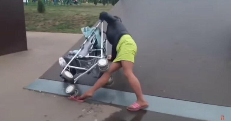 pijana matka w skateparku
