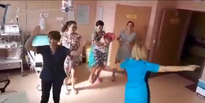 położne tańczą na porodówce 2