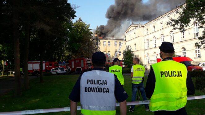 pożar szkoły w Lublińcu 2