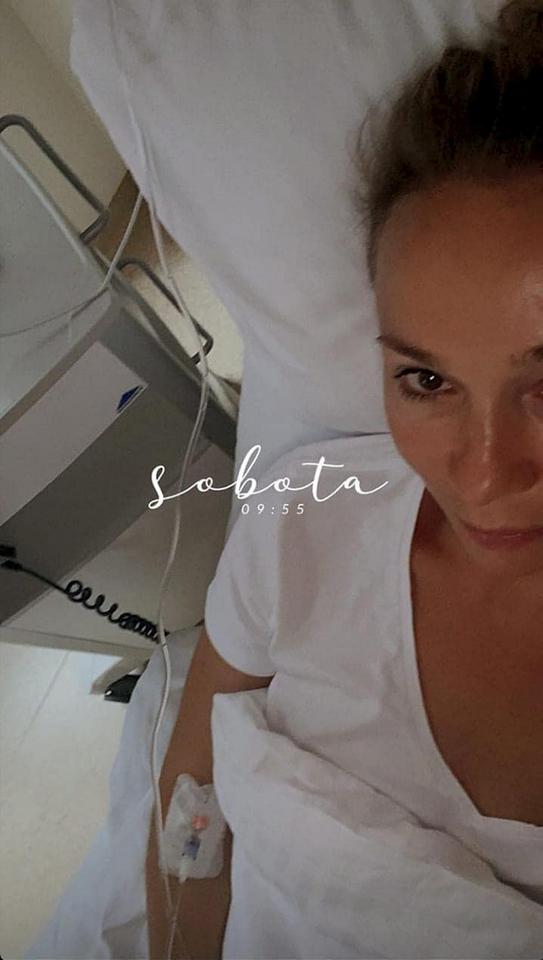 Sonia Bohosiewicz w szpitalu