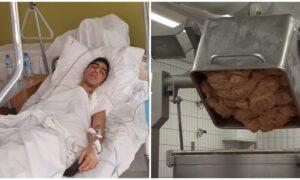 21-latek rozpoczął nową pracę. Pierwszego dnia wpadł do maszyny mielącej mięso