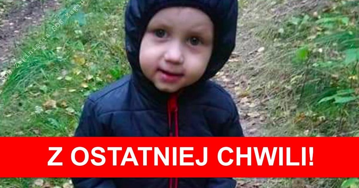 3-letni Kordian poszukiwany