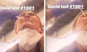 Aktorka robi test na Covid. Pokazuje fanom, jak wygląda nieprzyjemne badanie