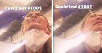 Aktorka robi test na Covid