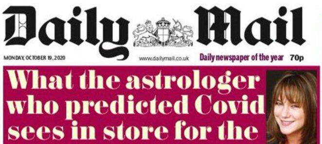 brytyjska astrolog przewidziała koronawirusa
