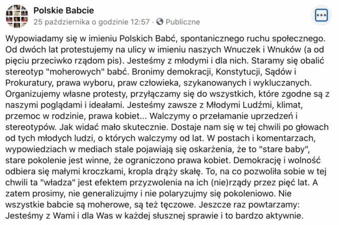 Polskie babcie też strajkują