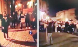 """Sojusz tarnowskiej policji z protestującymi? """"Tarnowska Policja Kochana jest!"""""""