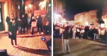 Protestujący w Tarnowie dziękują Policji
