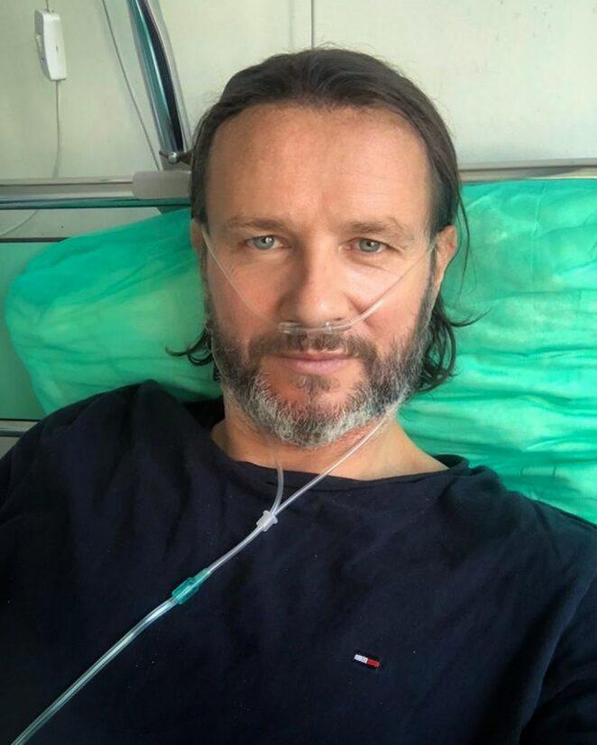 Radosław Majdan dodał zdjęcie ze szpitala