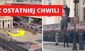W Warszawie robi się gorąco! Żandarmeria utworzyła ludzki mur dookoła kościołów