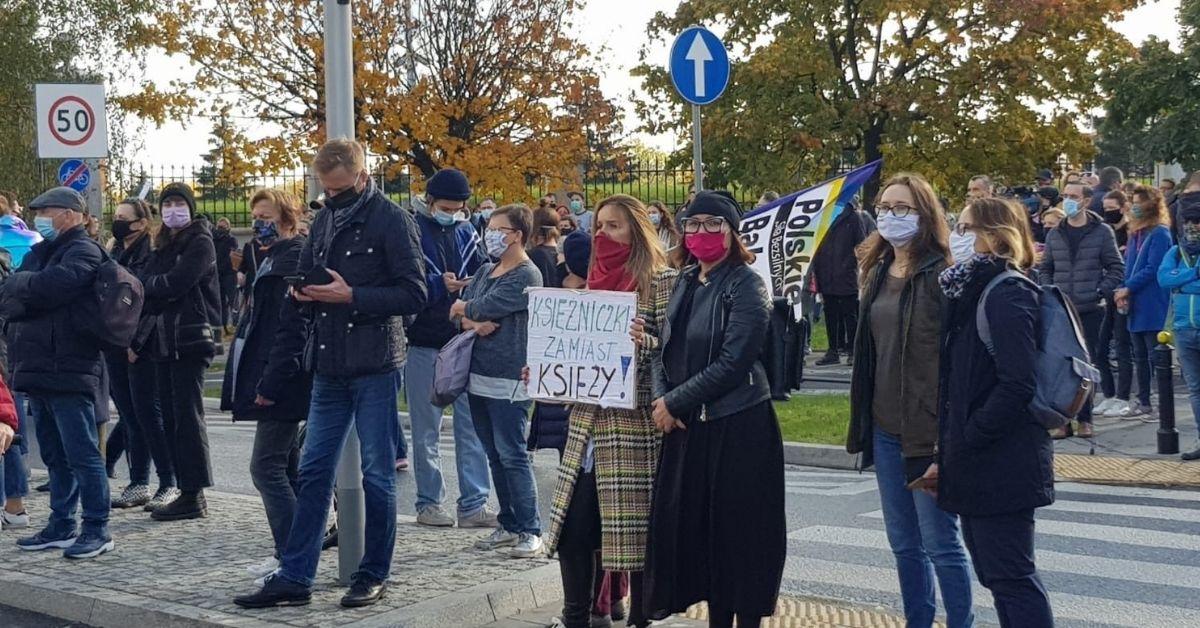 Protesty w kościołach