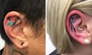 20 tatuaży na uszach, na które decydują się tylko wyjątkowo odważne osoby