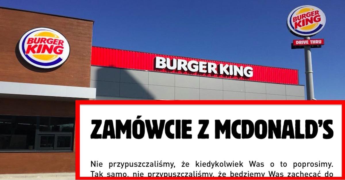 Burger King promuje McDonald's