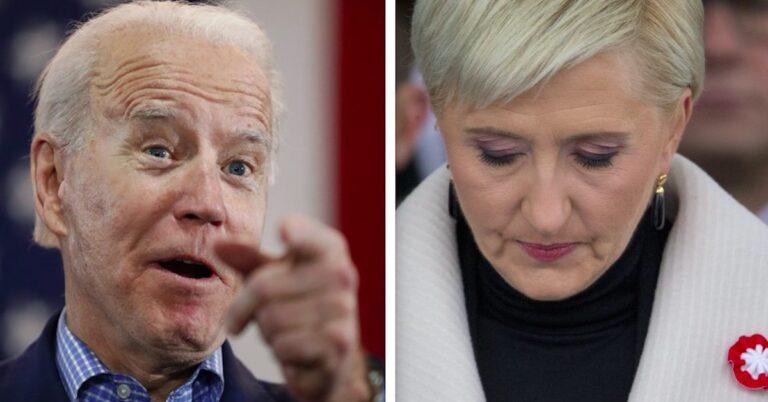 Joe Biden wykorzystał Agatę Dudę