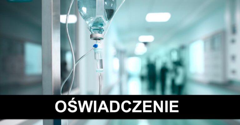 Oświadczenie szpitala