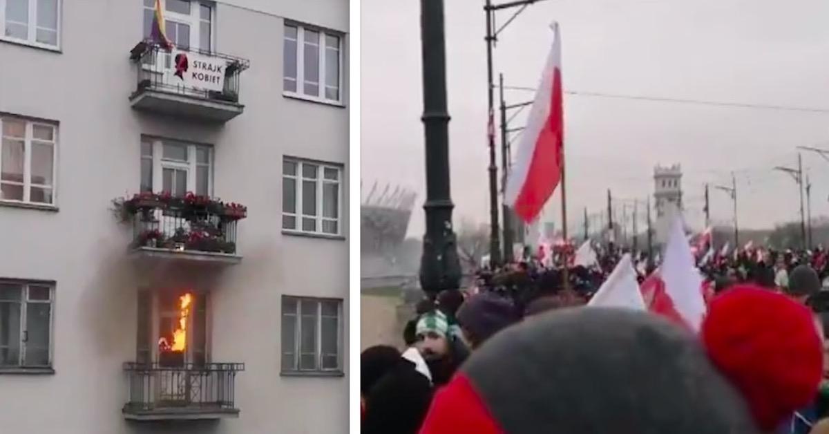 Podpalenie mieszkania w Warszawie