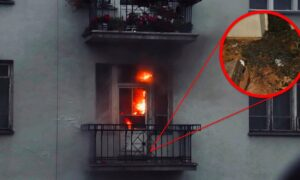 Podpalone mieszkanie na Marszu Niepodległości