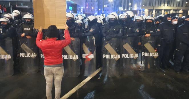 Zamieszki podczas strajku kobiet