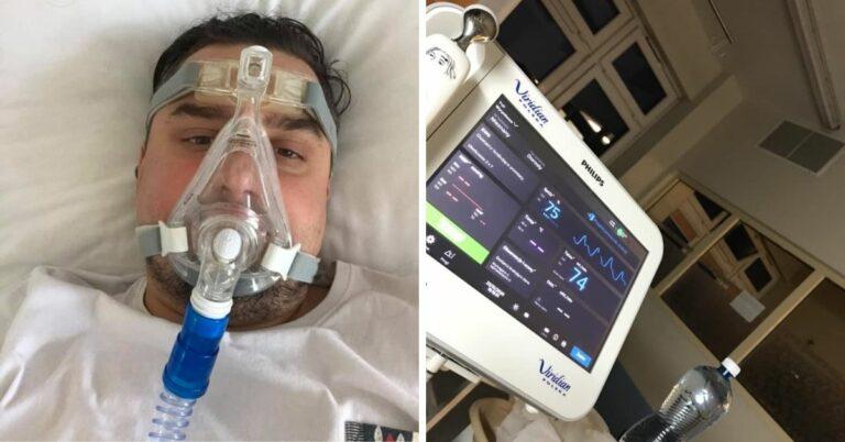 pacjent chory na covid-19