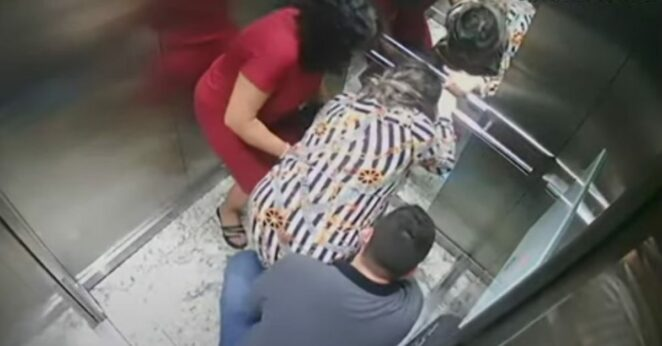 poród w windzie