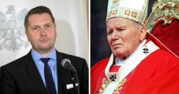 Przemysław Czarnek broni papieża