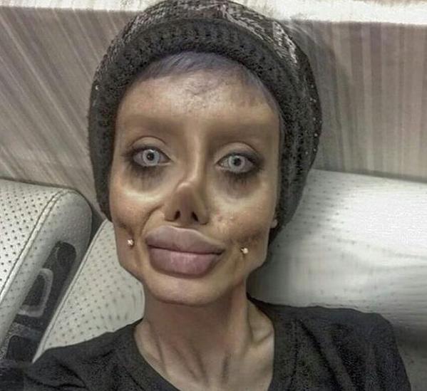 Chciała wyglądać jak Angelina Jolie