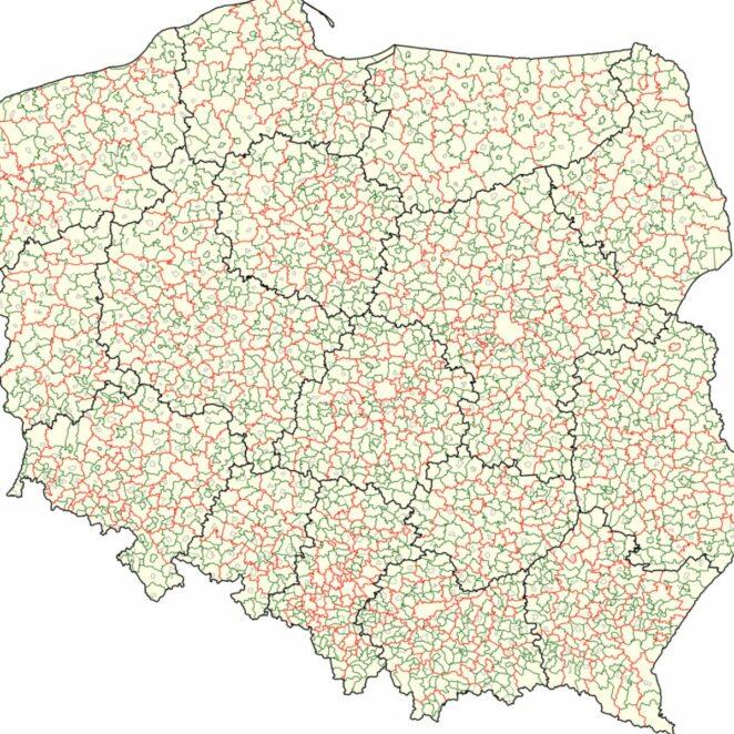 zmiany na mapie Polski