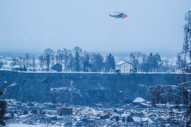 osunięcie ziemi w pobliżu Oslo 2