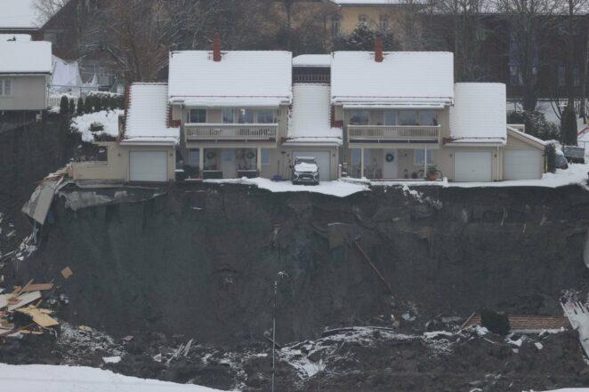 osunięcie ziemi w pobliżu Oslo 3