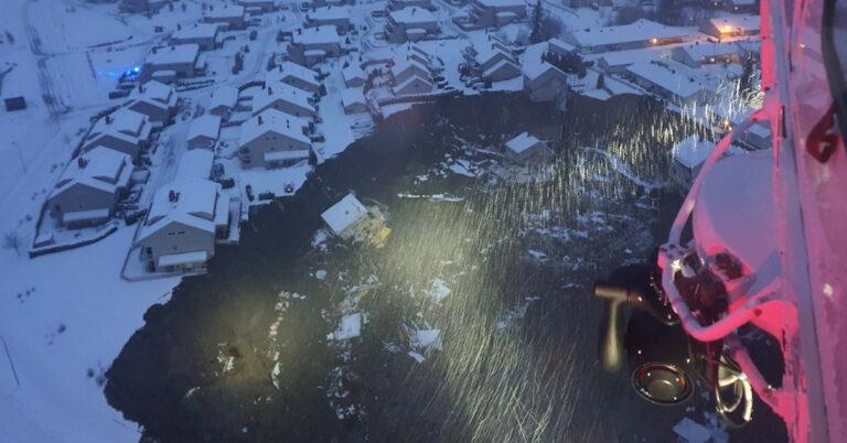 osunięcie ziemi w pobliżu Oslo