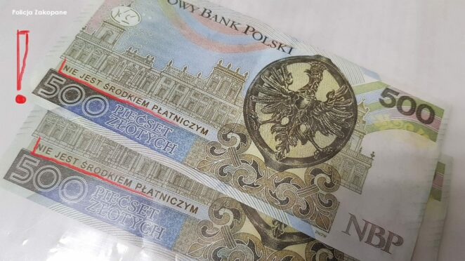 oszuści płacą banknotami prezentowymi 2