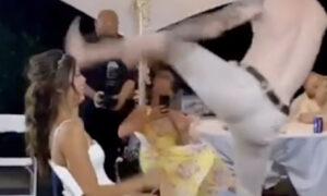 Pan Młody zrujnował wesele. Jego taniec zakończył się niebezpiecznym wypadkiem