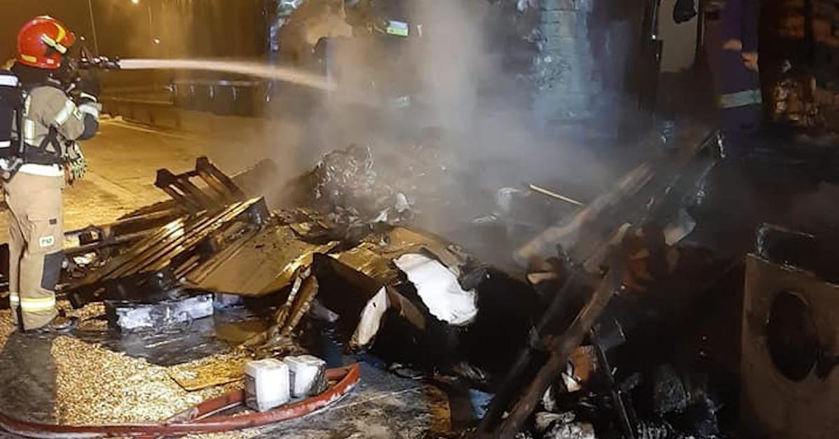 pożar na S8