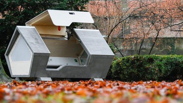 kapsuły dla bezdomnych w niemieckim mieście ulm