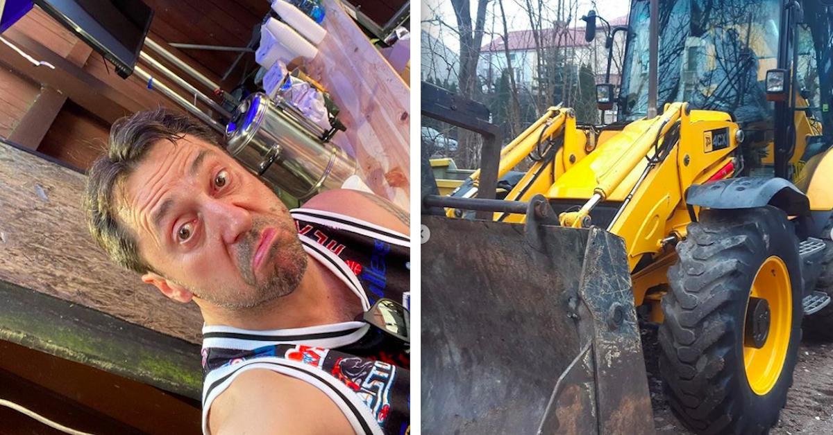 Gwiazdor disco-polo dorabia na budowie