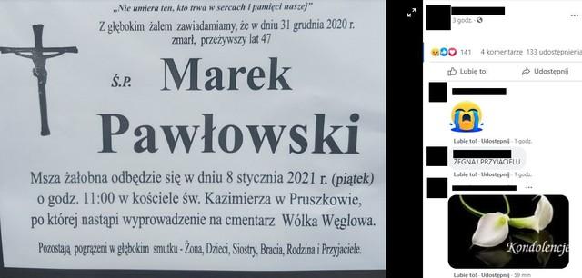 Ostatnie pożegnanie Marka Pawłowskiego