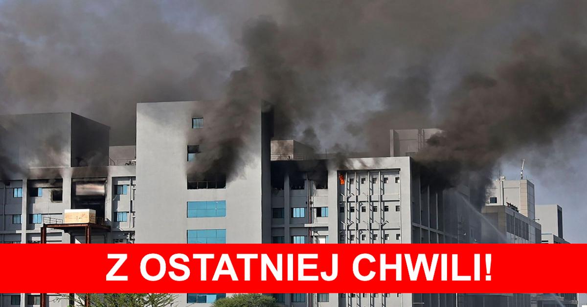 pożar w fabryce szczepionek