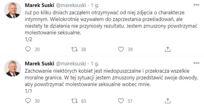 Włamanie na konto Marka Suskiego