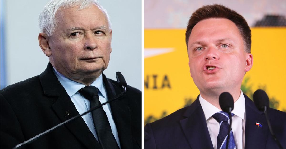 Hołownia ostro o Kaczyńskim