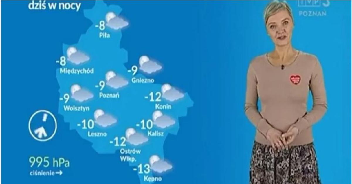 Prezenterka pogody zwolniona z TVP