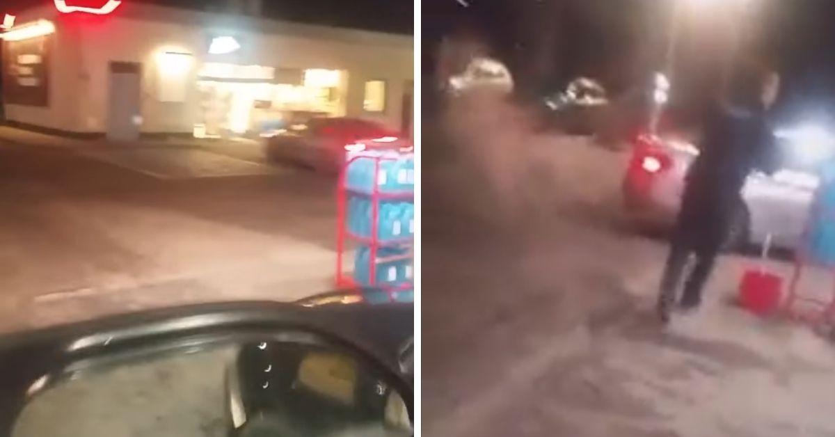 Kobieta zdemolowała stację paliw