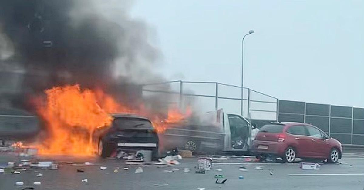 pożar na autostradzie A4