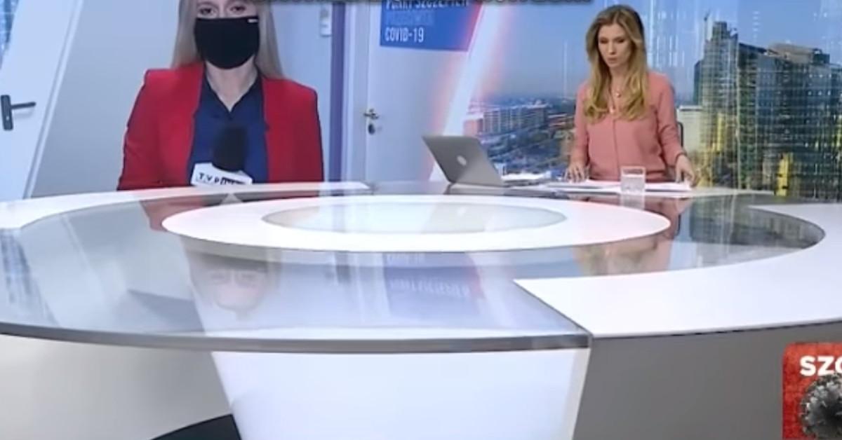 wpadka dziennikarki tvp info 2