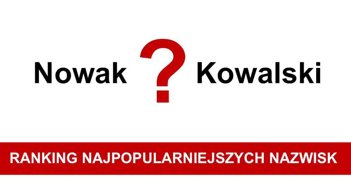 15 najpopularniejszych nazwisk w Polsce