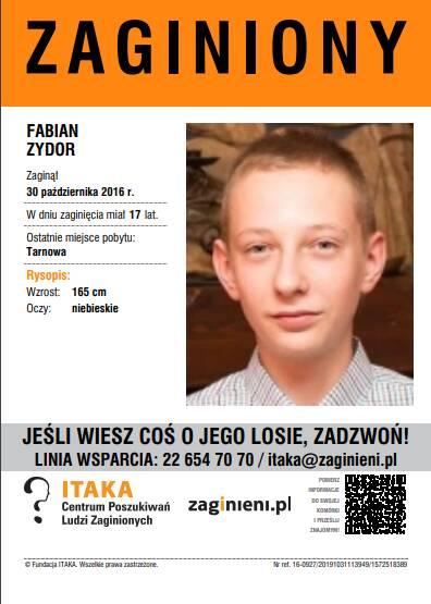 17-letni Fabian Zydor