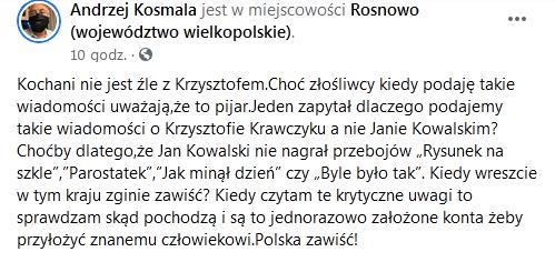 Nowe informacje o Krzysztofie Krawczyku