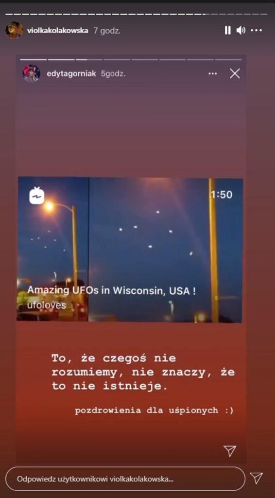 Viola Kołakowska widziała UFO