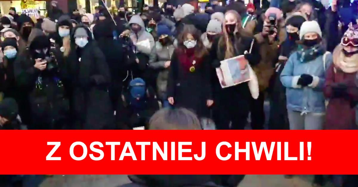 Warszawa totalnie zablokowana przez kobiety