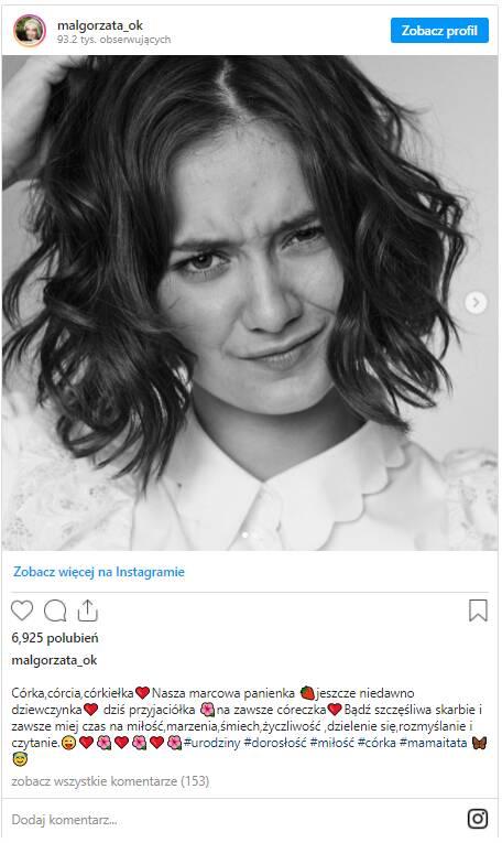 Małgorzata Ostrowska-Królikowska świętuje