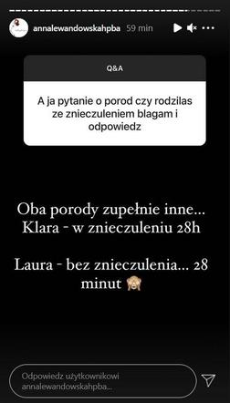 Anan Lewandowska szczerze o porodach